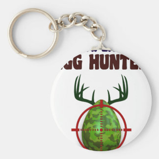 Easter expert Hunter, egg deer target shooter, fun Basic Round Button Keychain