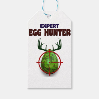 Easter expert Hunter, egg deer target shooter, fun Gift Tags