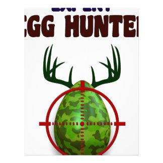 Easter expert Hunter, egg deer target shooter, fun Letterhead Template