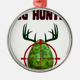 Easter expert Hunter, egg deer target shooter, fun Metal Ornament
