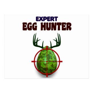 Easter expert Hunter, egg deer target shooter, fun Postcard