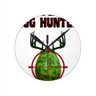 Easter expert Hunter, egg deer target shooter, fun Round Clock