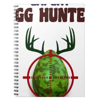 Easter expert Hunter, egg deer target shooter, fun Spiral Notebook