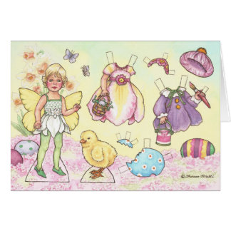 Easter Fairy Paper Doll Greeting Card