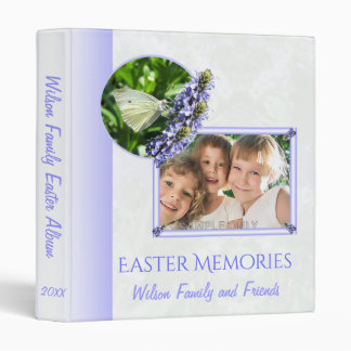 Easter Family Memories Album Butterflies Vinyl Binders