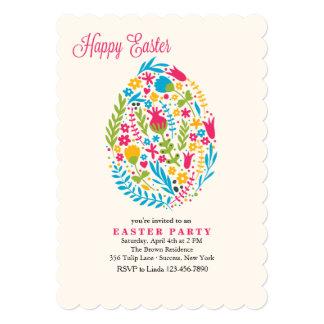 Easter Floral Egg Invitation