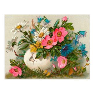 Easter Flowers Vintage Floral Art Post Cards