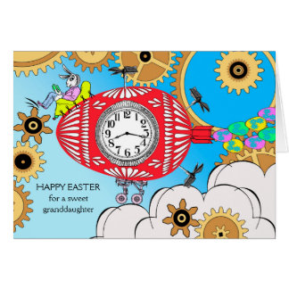 Easter for Granddaughter, Steampunk Easter Bunny Card