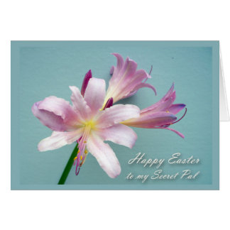 Easter for Secret Pal, Resurrection Lily Greeting Card