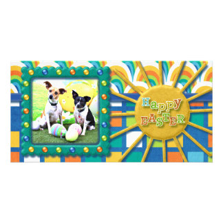 Easter Fox Terrier - Sadie and Baboo Photo Greeting Card