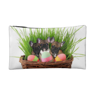 Easter French Bulldogs Cosmetic Bag