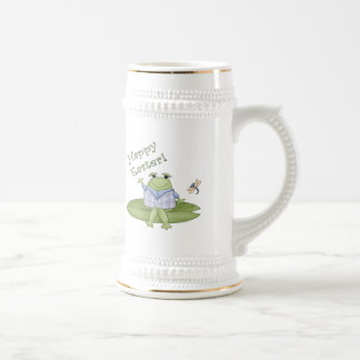 Easter Frog T shirts and Easter Gifts Beer Stein