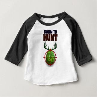 easter funny design, Born to hunt deer egg shooter Baby T-Shirt