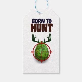 easter funny design, Born to hunt deer egg shooter Gift Tags
