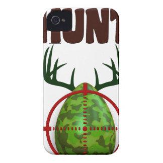 easter funny design, Born to hunt deer egg shooter iPhone 4 Case-Mate Case