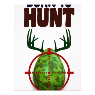 easter funny design, Born to hunt deer egg shooter Letterhead Template