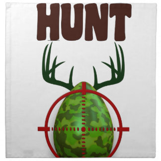 easter funny design, Born to hunt deer egg shooter Napkin
