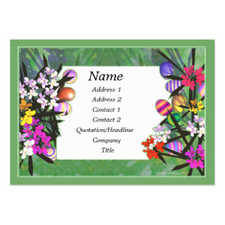 Easter Garden - Chubby Pack Of Chubby Business Cards