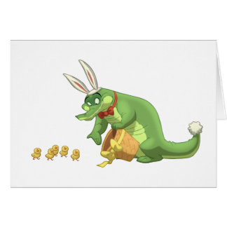 Easter Gator Note Card