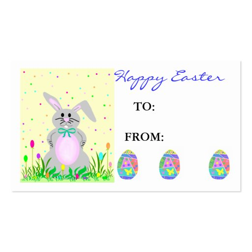 Easter Gift Tag Business Card