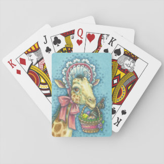 EASTER GIRAFFE PLAYING CARDS Poker