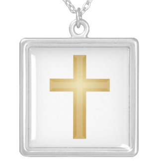 Easter/Gold Christian Cross Silver Plated Necklace