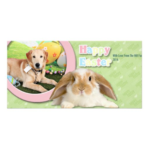 Easter - Golden Retriever - Augie Photo Greeting Card