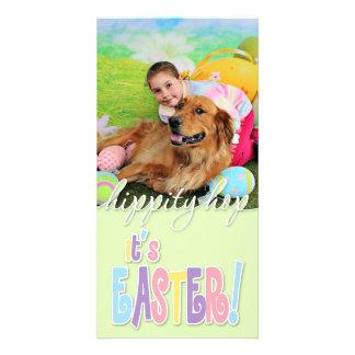 Easter - Golden Retriever - Copper Photo Card