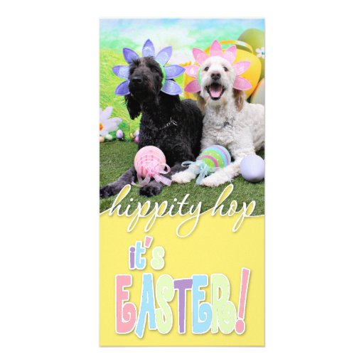 Easter - GoldenDoodles - Sadie and Izzie Photo Card