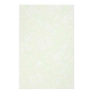 Easter Green Retro Paisley Stationery Design