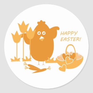 Easter Greeting Classic Round Sticker