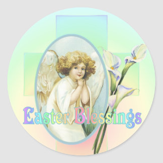 EASTER GREETINGS by SHARON SHARPE Classic Round Sticker