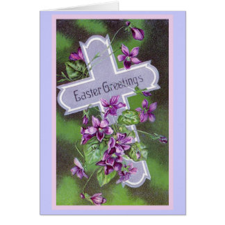 Easter Greetings Vintage Illustration Card