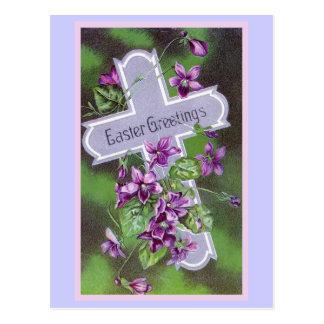 Easter Greetings Vintage Illustration Postcard