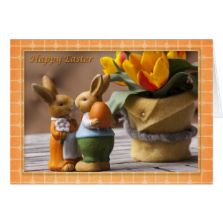 Easter - Happy Easter Bunny Couple Card