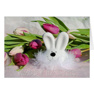 "Easter - ""Happy Easter"" Fancy Bunny Card"