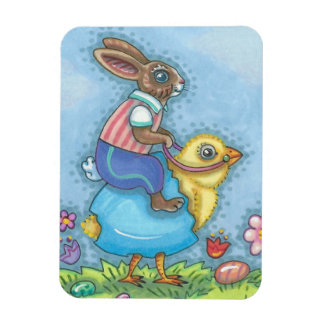 Easter Hare And Chick EASTER BUNNY MAGNET Holiday