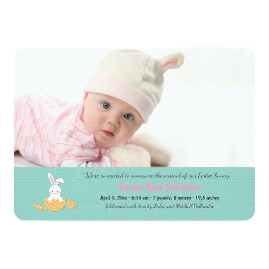 Easter Hatchling Photo Invitation Horizontal