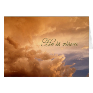Easter He is Risen Sun Rays from Behind Clouds Card