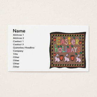 Easter Holidays Business Card