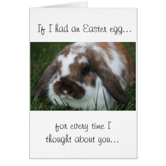 Easter Holland Lop Card