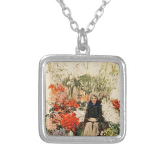 Easter in Paris in 1900s Silver Plated Necklace