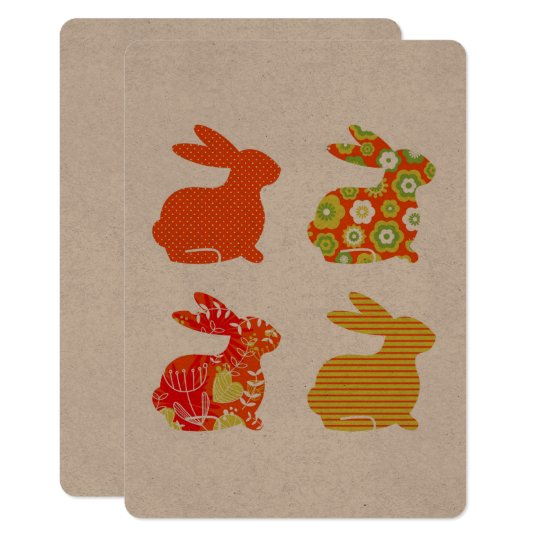 Easter invitation : recycle with Bunnies