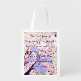 Easter Iris Reusable Grocery Bag