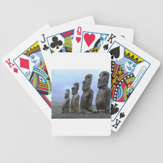 Easter-Island Bicycle Playing Cards
