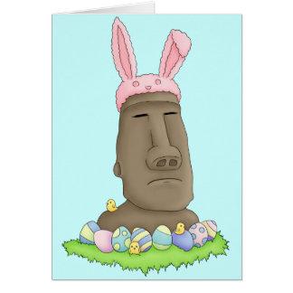 Easter Island Bunny Parody Card
