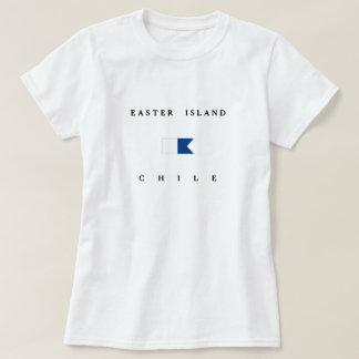 Easter Island Chile Alpha Dive Flag T-Shirt
