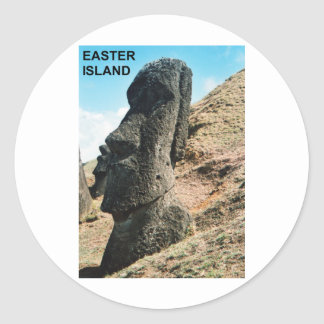 Easter Island Classic Round Sticker