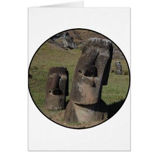 Easter Island Heads Card