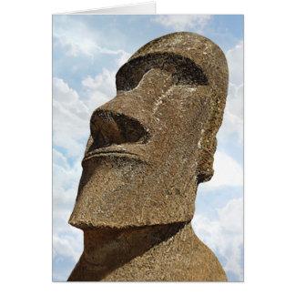 Easter Island Moai - Greeting Card